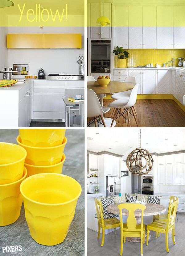 ¡Amarillo es un color energético y alegre!