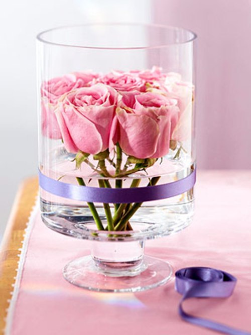 valentine's day glass rose