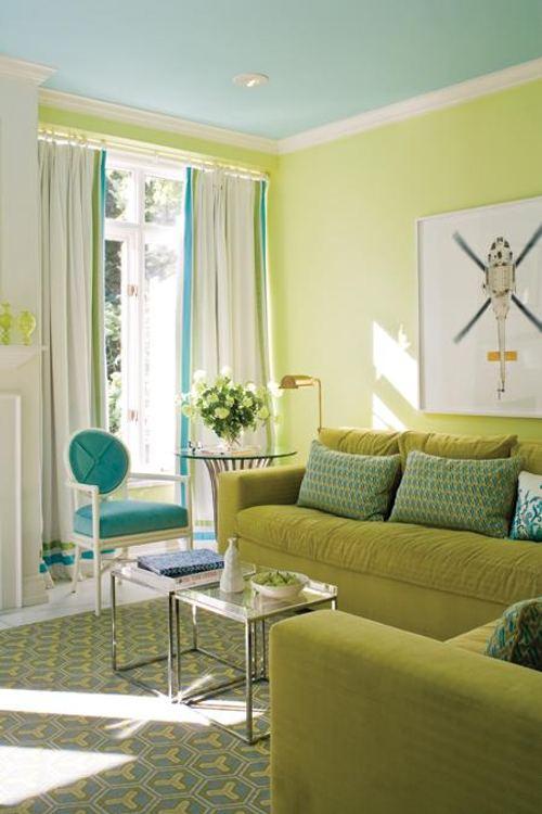 Azul Turquesa Y Verde Colores Para Un Saln Una Cocina DecoracionIN