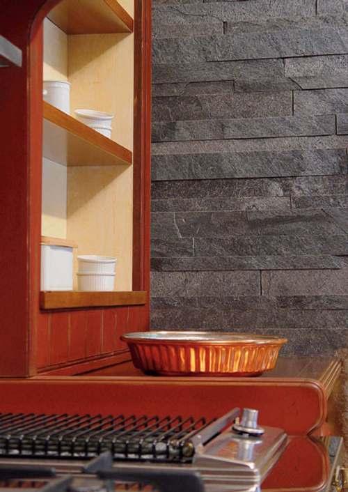Baldosas de pizarra para paredes y suelos decoracion in - Revestimiento paredes interiores pizarra ...