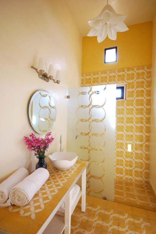 Ba o amarillo decoraci n con estilo marroqu decoracion in for Decoracion marroqui