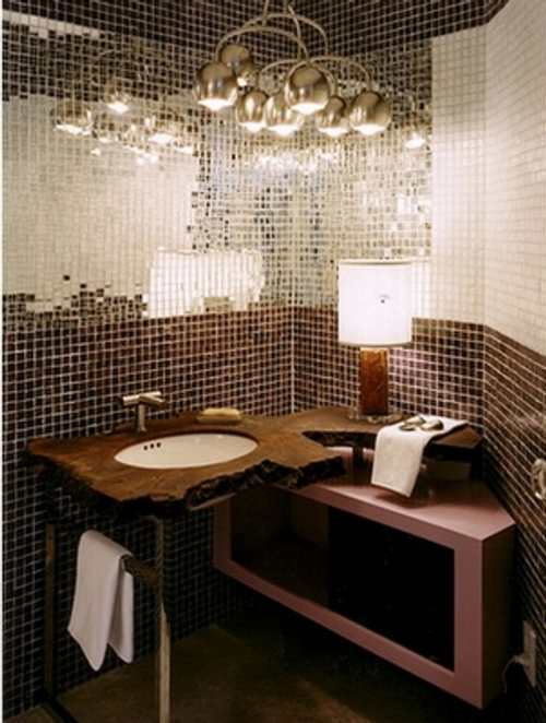 Lamparas Baño Vintage:Tile On Bathroom Mirror