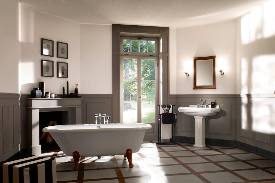 baños de estilo retro