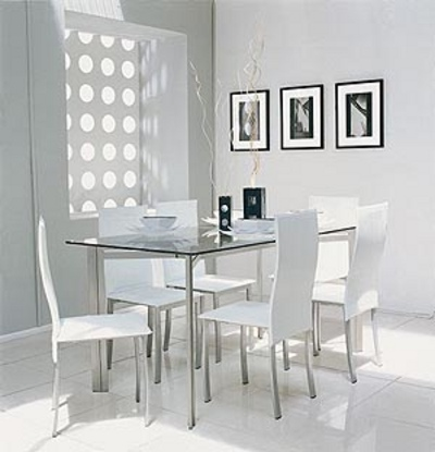 Blanco para la decoraci n del comedor decoracion in for Comedor gris y blanco
