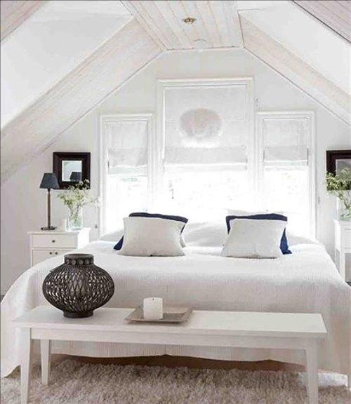 blanco en el dormitorio