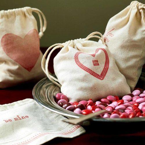 bolsas de tela con dulces
