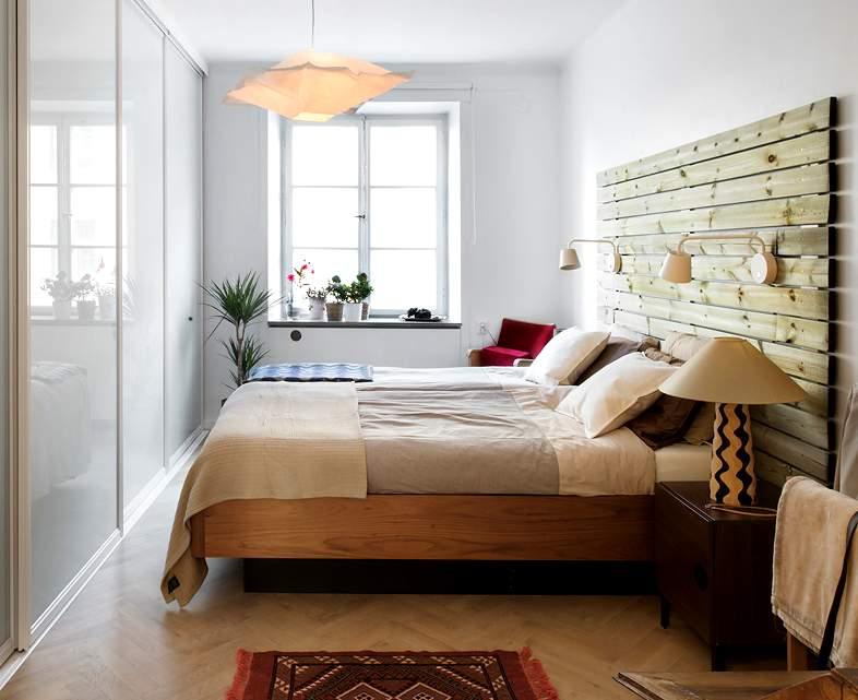 cabecero de madera para el dormitorio