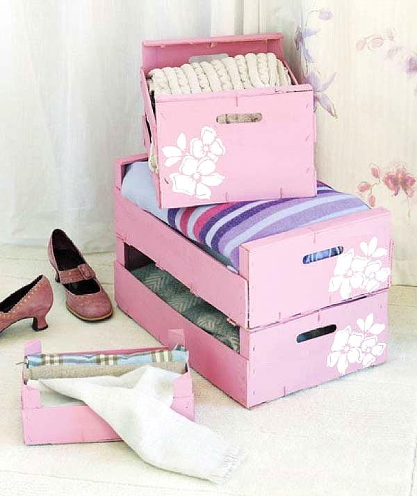 Recicla cajas de madera para decorar decoracion in - Cajas de decoracion ...
