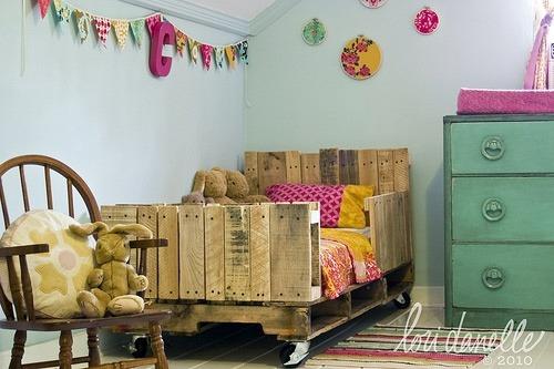 cama reciclada