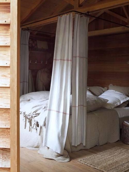 Camas con cortinas y dosel decoracion in - Cortinas para cama ...