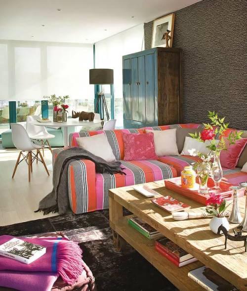 casa colorida y actual