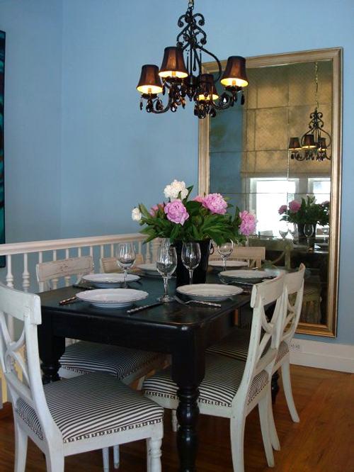 Casa elegante turquesa y vintage decoracion in for Decoracion vintage para apartamentos