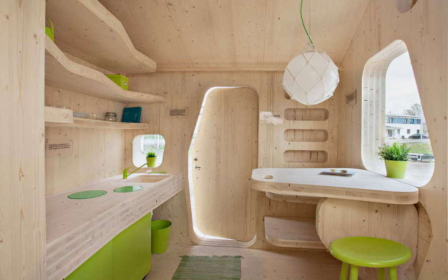 casa para estudiantes pequeña de madera