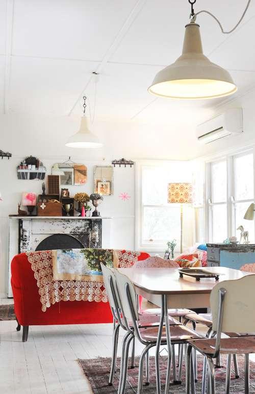 Una casa con personalidad vintage decoracion in for Decoracion vintage casas