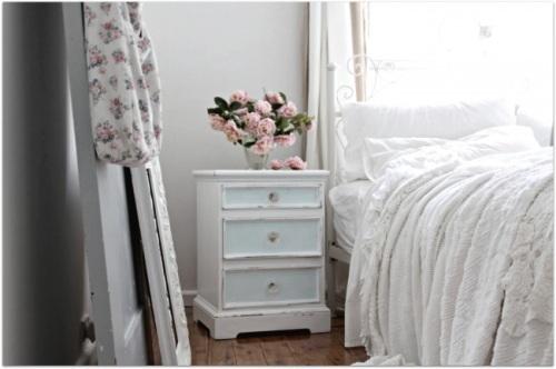 dormitorio con toques Shabby Chic