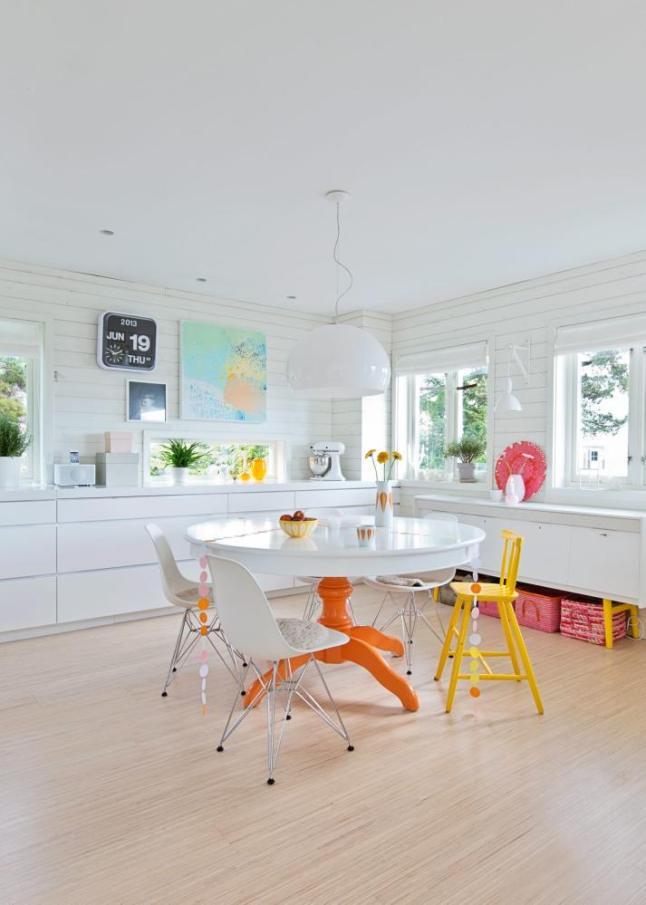 casa con toques de color