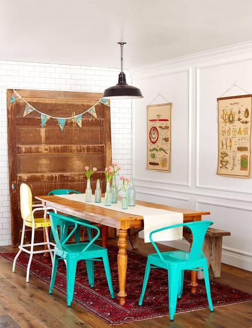 Casa a puro color y detalles vintage decoracion in - Decoracion vintage casa ...