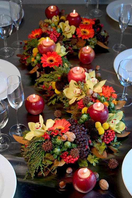 Centros de mesa para la decoraci n de oto o decoracion in - Pinas decoradas para centro de mesa ...