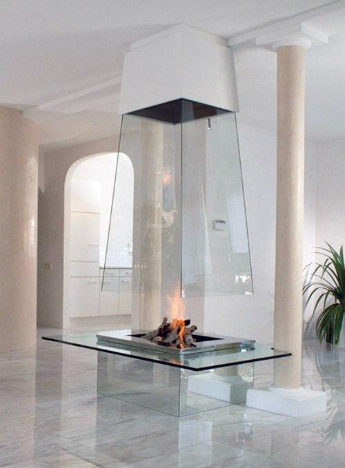 chimenea de estilo moderno