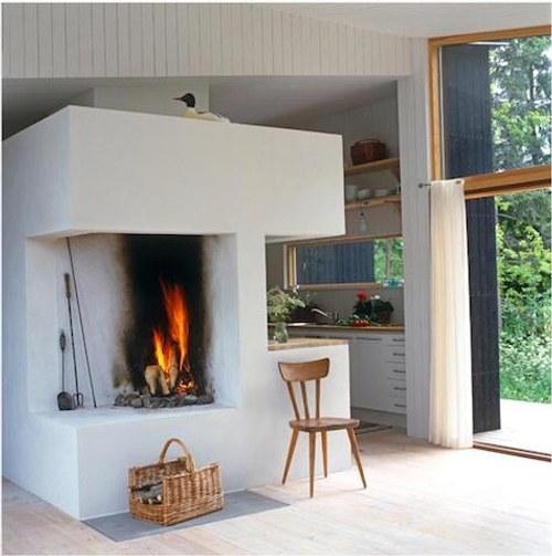 Chimeneas en la cocina y el comedor decoracion in for Comedor con chimenea