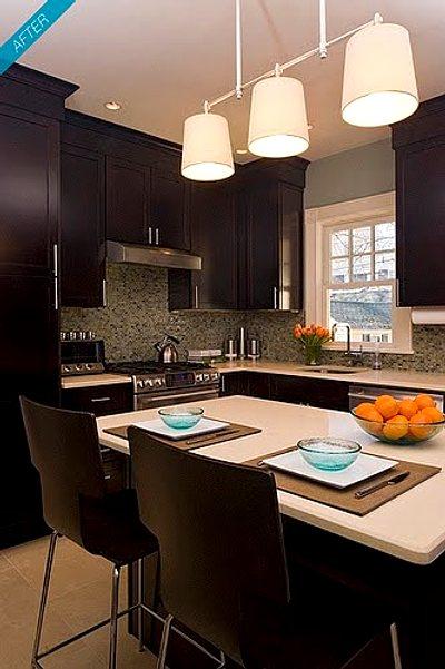 Cocinas con pr cticas islas o barras decoracion in for Cocina cerrada con barra