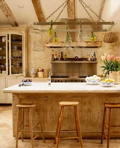cocina de estilo rústico