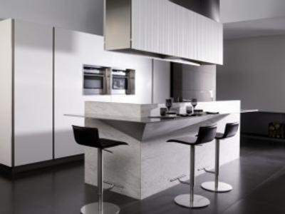 Una cocina moderna modelo g975 decoracion in for Modelos de desayunadores