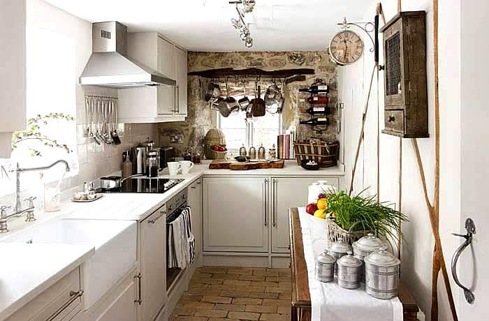 C mo ganar espacio en cocinas peque as decoracion in - Decoracion cortinas cocina ...