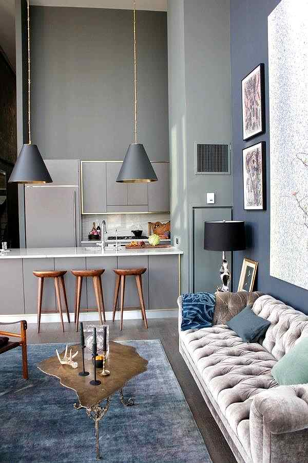 cocina y salón integrados y modernos