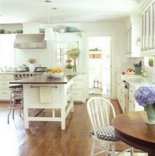 Cocinas blancas decoracion in for Decoracion cocinas blancas