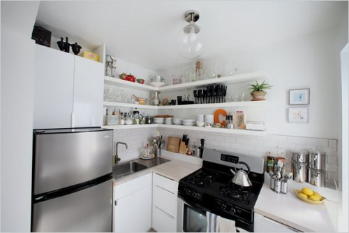 Cocinas peque as muebles de cocina decoracion in for Modelos de muebles de cocina para espacios pequenos