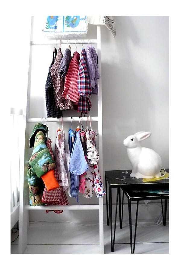 colgador de ropa improvisado