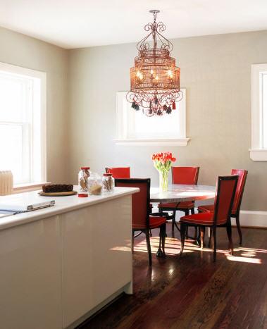 Comedores con candelabros o l mparas de ara a decoracion in - Lamparas para salon comedor ...