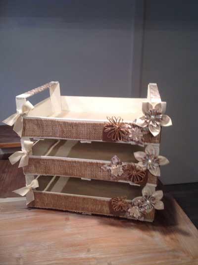 C mo reciclar cajas de frutas en pocos pasos decoracion in - Cajas fruta decoracion ...