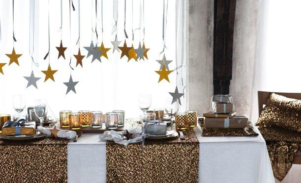 cómo decorar la mesa de fin de año