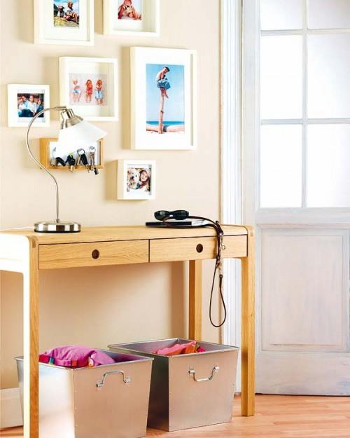 cómo decorar una pared con fotos