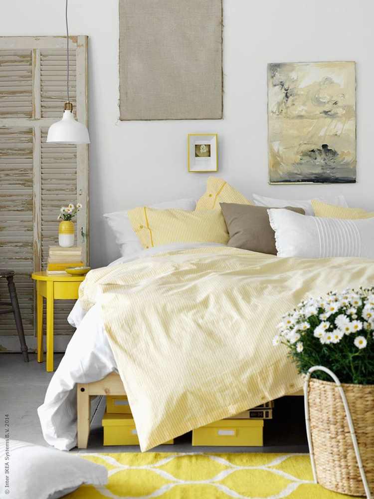 cómo decorar con toques de amarillo