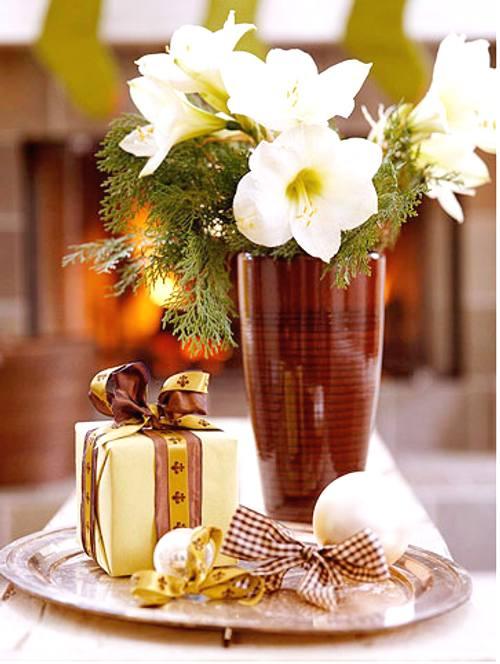 Decoraci n de navidad centros de mesa simples decoracion in for Adornos navidenos sencillos