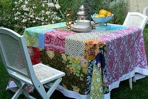 C mo hacer un mantel patchwork decoracion in - Como hacer pachwork ...