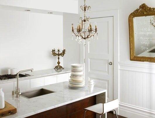 Un candelabro o l mpara de ara a en cocinas decoracion in for Decoracion iluminacion
