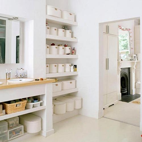 cómo ordenar y almacenar en el cuarto de baño
