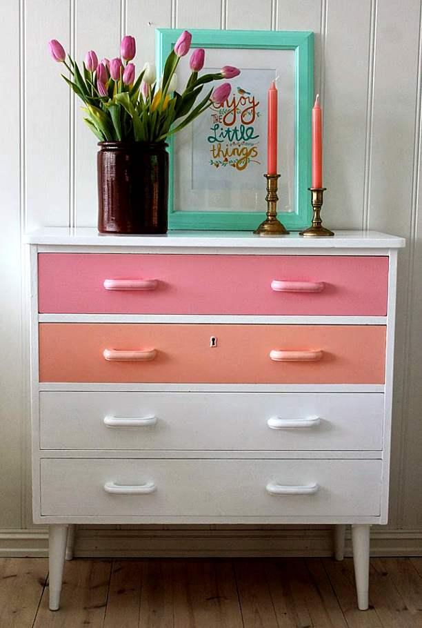 cómo renovar una cómoda con pintura