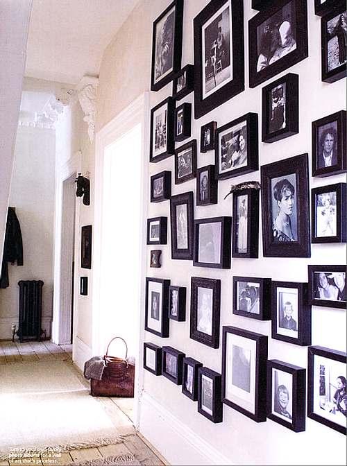 C mo decorar una pared con fotos decoracion in - Como hacer un cuadro con fotos familiares ...