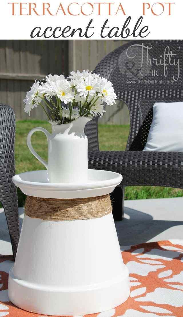 creativa mesa-auxiliar para el jardín