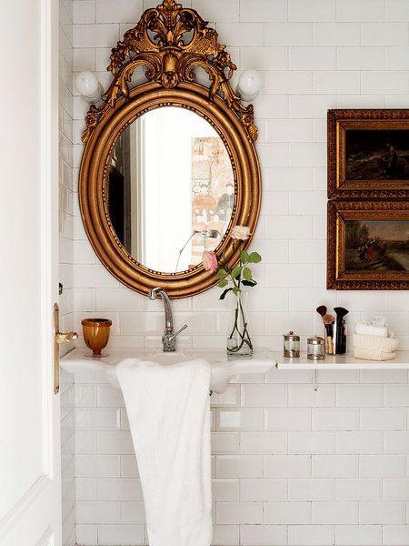 cuarto de baño con toques vintage