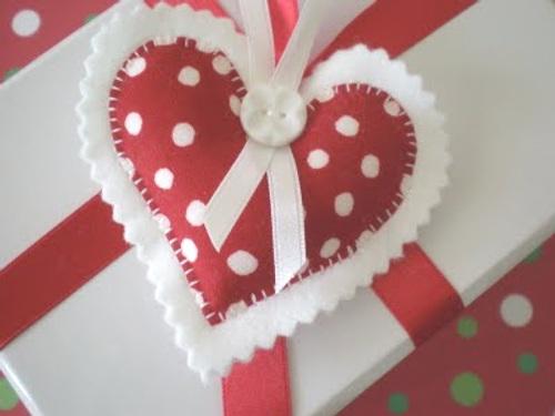 Decoraci n navidad adornos en fieltro y tela para el - Adornos de navidad de fieltro para el arbol ...