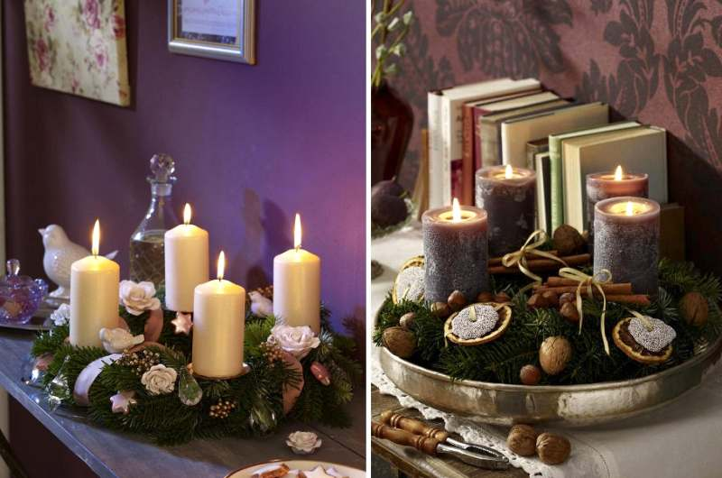 decora las fiestas con texturas naturales