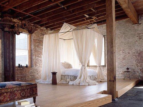 Decoraci n de dormitorios rom ntico y r stico loft - Decoracion dormitorio rustico ...