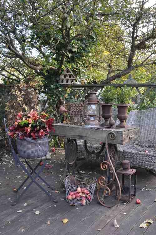 decoración con accesorios vintage en otoño