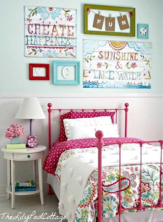 decoración actual para un dormitorio de niñas